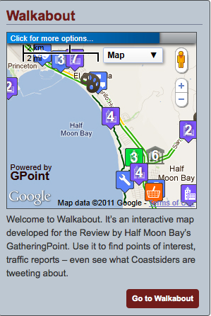 Half Moon Bay Review map feature
